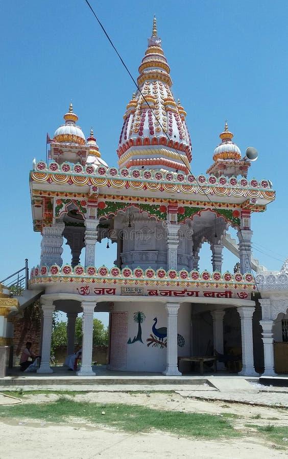 Hindu temple in mohanlalganj royalty free stock photos