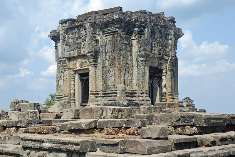 Hindu Temple Phnom Bakheng, Angkor, Cambodia. The Hindu Temple Phnom Bakheng in the form of a temple mountain, Angkor, Siem Reap, Cambodia stock photography