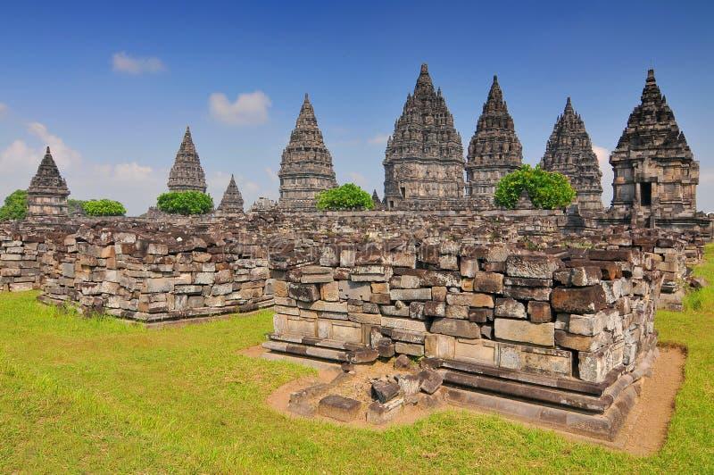 Hindu temple Prambanan in Yogyakarta Java, Indonesia stock image