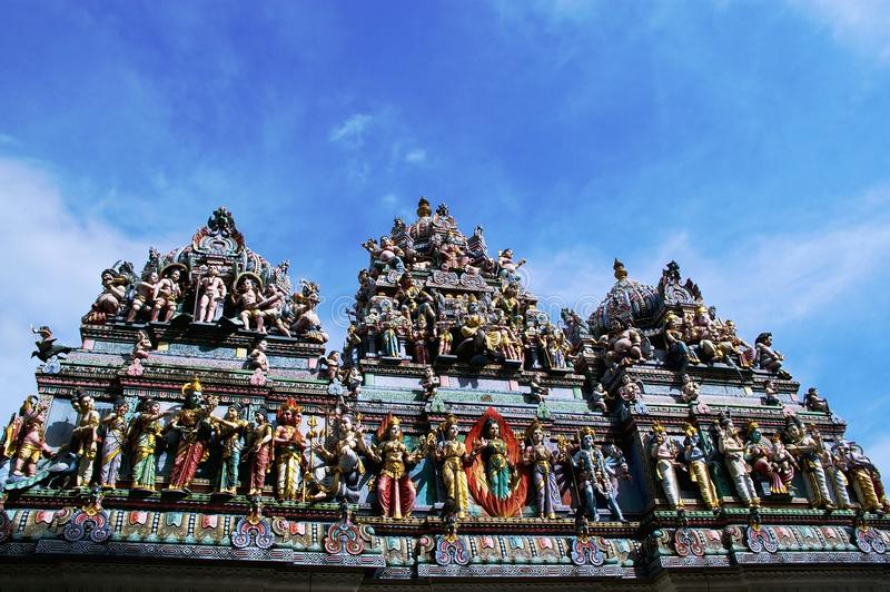 Hindu temple singapore stock photography