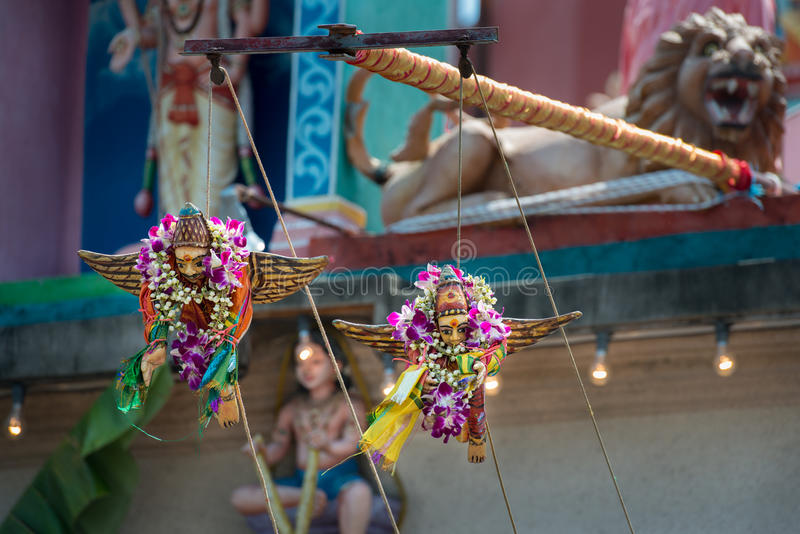 Hindu temple. During Thaipusam festival royalty free stock image