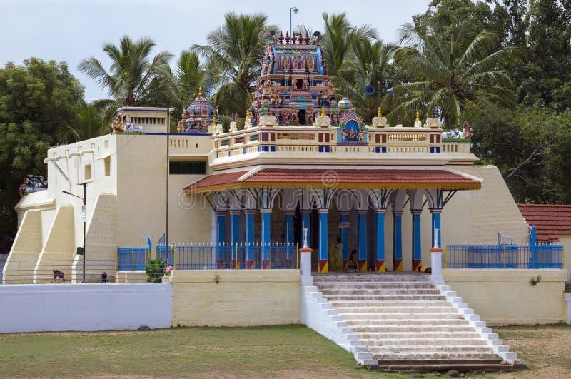 Hindu temple - Karaikudi - Tamil Nadu - India. Hindu temple in the village of Karaikudi in the Chettinad area of the Tamil Nadu region of southern India stock photo