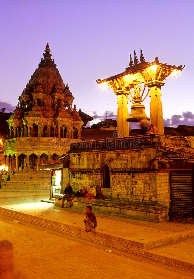 Hindu temples- Nepal royalty free stock photos