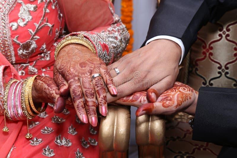 Hindu Wedding Ring Ceremony Stock Image Image of couple ceremony