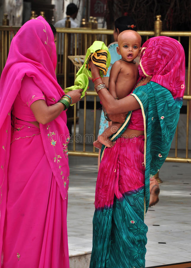 Hindu women royalty free stock photography