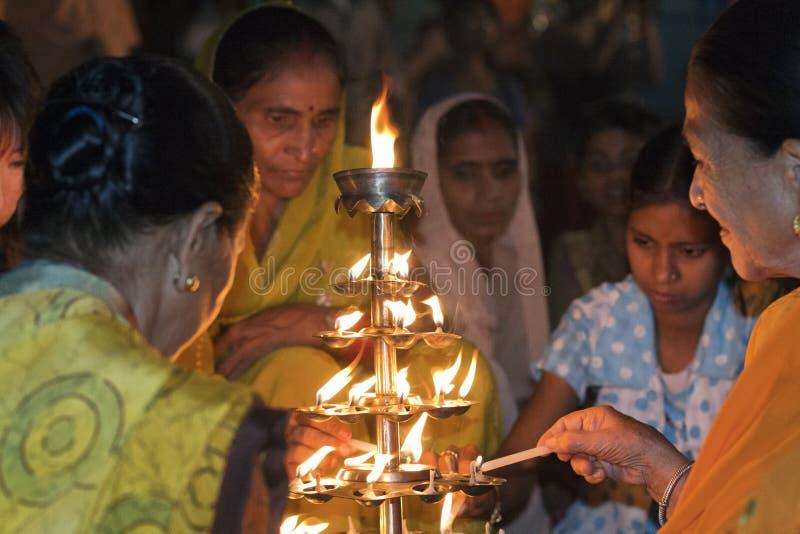 Hindu Women in Varanasi royalty free stock photo