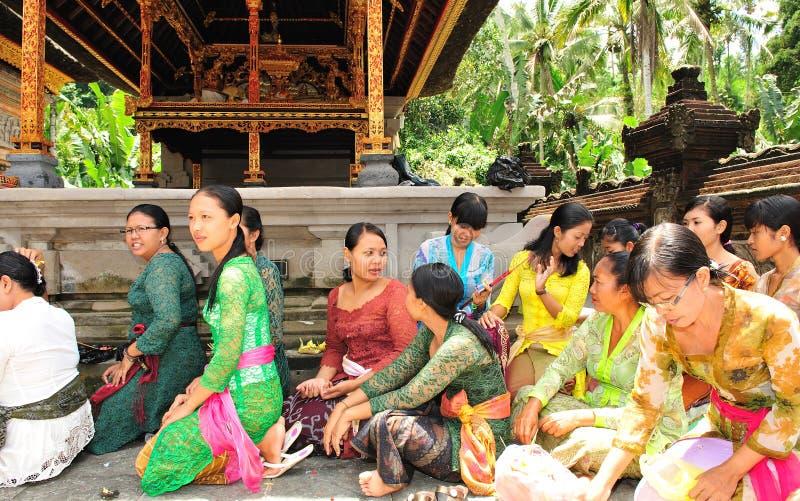 Hindu women in prayer stock photo