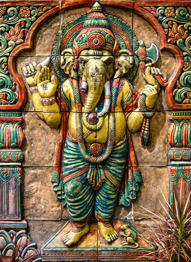 Hinduisk ganeshagud arkivbild