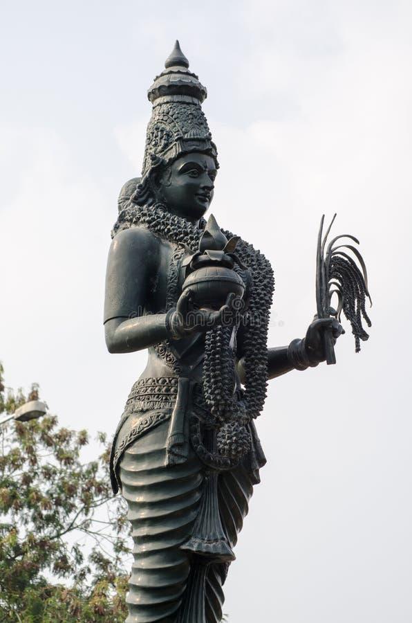 Hinduisk gudinnastaty, Hyderabad, Indien arkivfoton