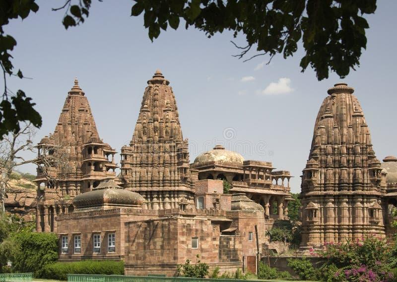 hinduisk india jodhpur mandore nära tempelet royaltyfria bilder