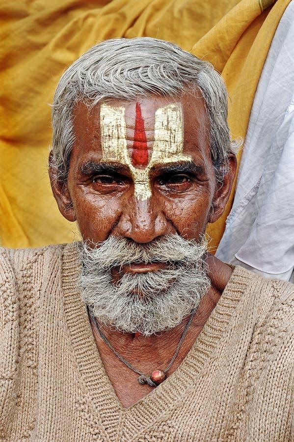 hinduisk india sadhu arkivfoton