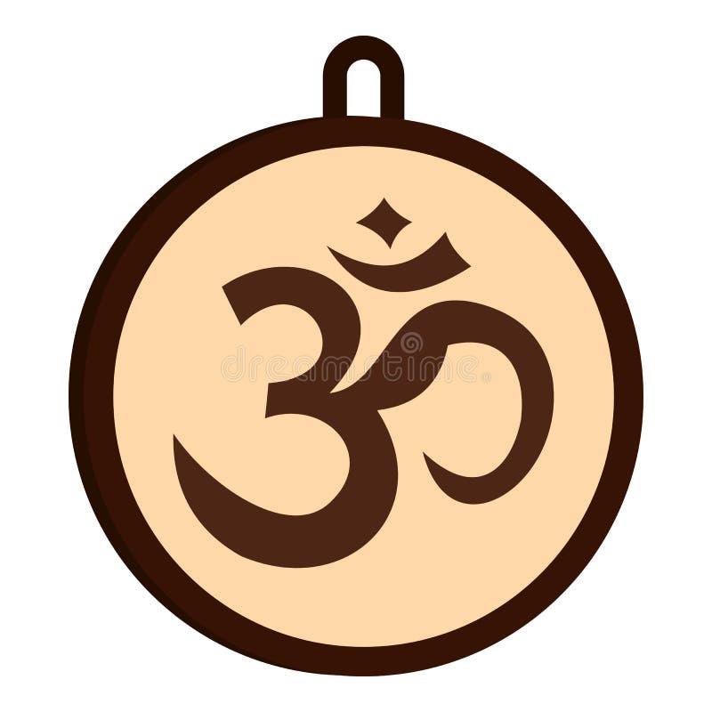 Hinduisk isolerad Om-symbolsymbol stock illustrationer