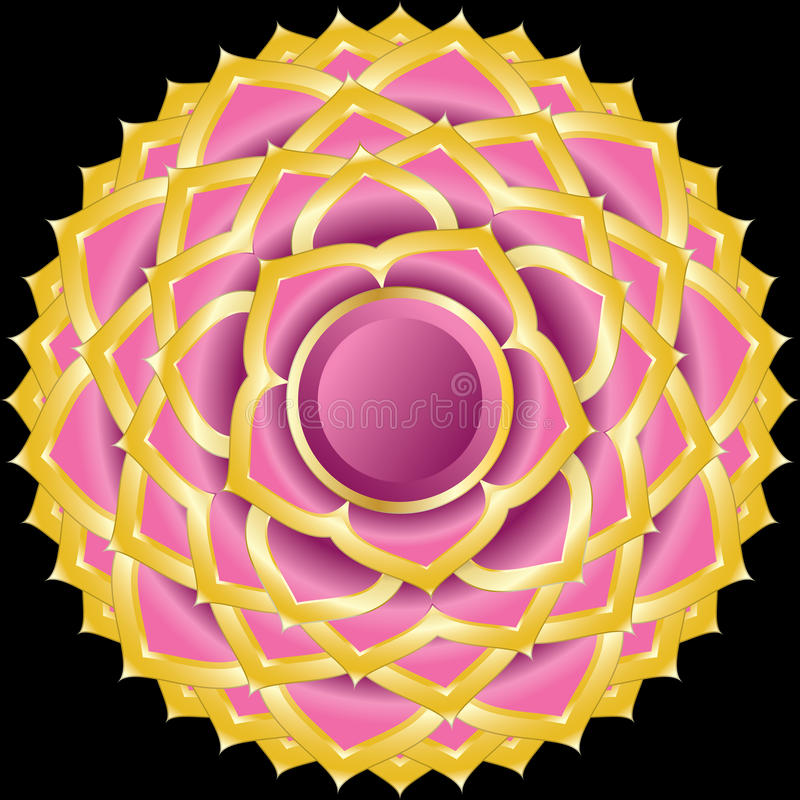 hinduisk juvel för chakra som medaljongsahasrara vektor illustrationer