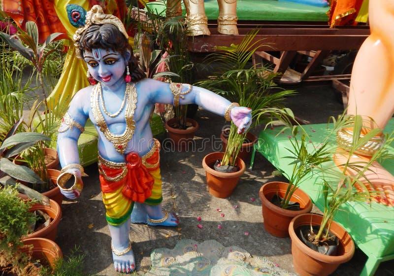 hinduisk krishna för gud fotografering för bildbyråer