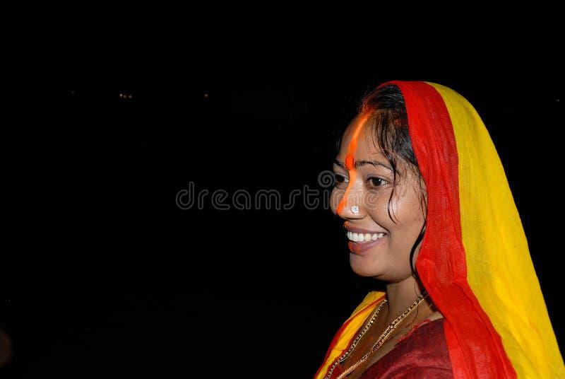 Hinduisk kvinna royaltyfria bilder