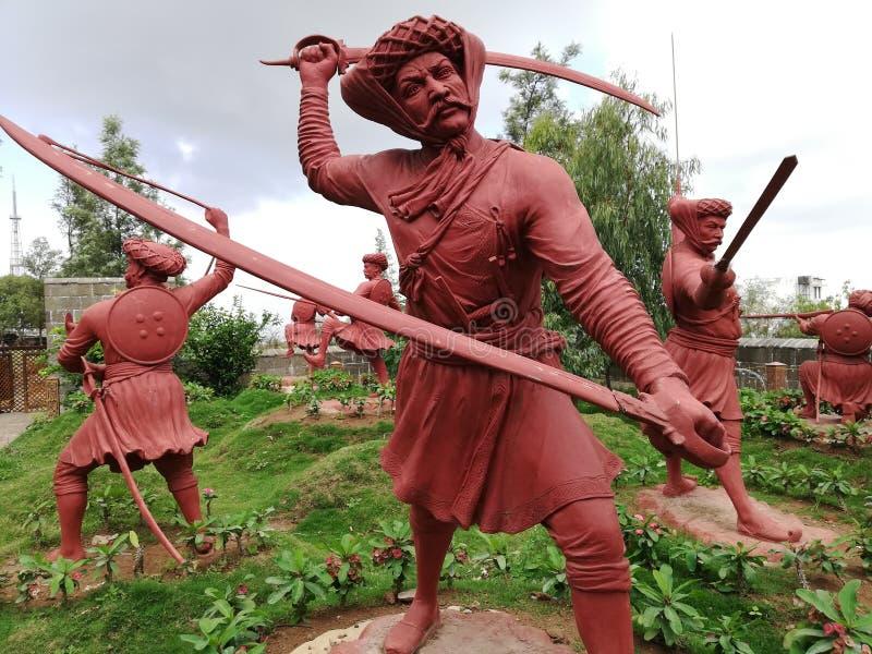 Hinduisk Maratha krigare royaltyfri bild