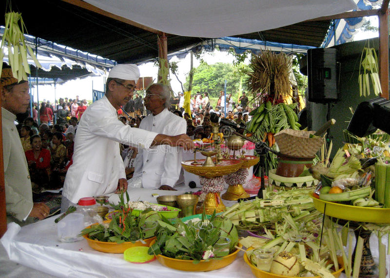 Hinduisk religiös ceremoni royaltyfri bild