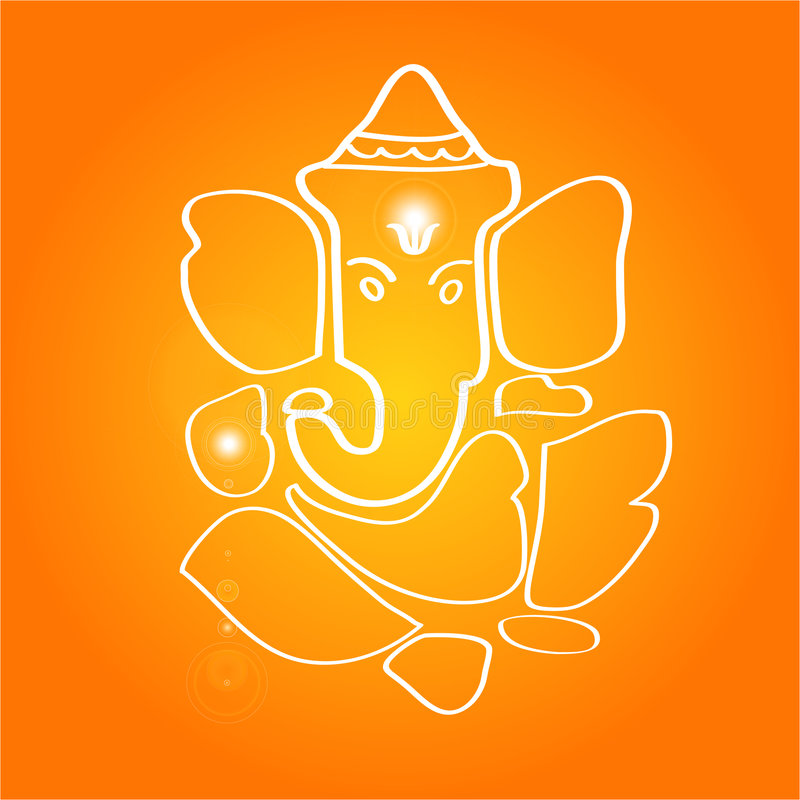 hinduisk sri för gudganesha royaltyfri illustrationer