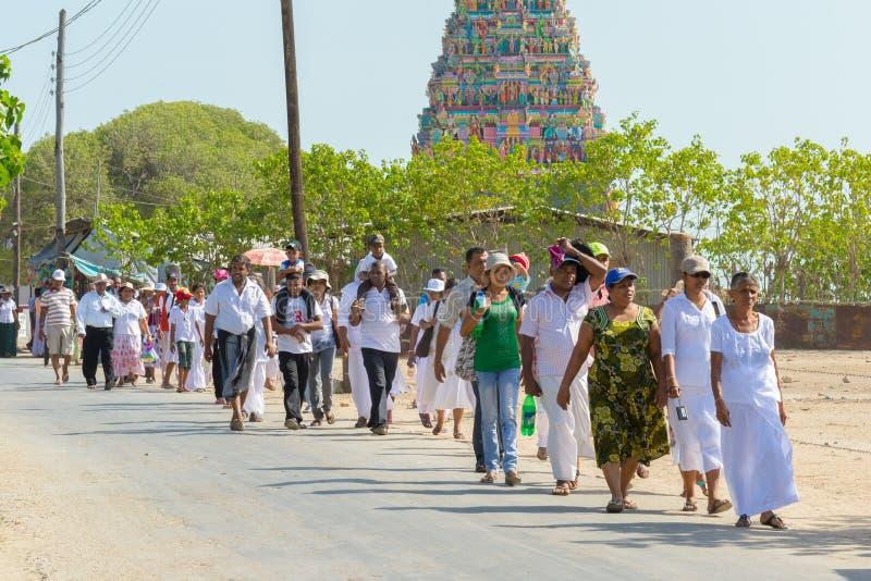 Hinduisk tempel för tamil i Jaffna, norr Sri Lanka royaltyfri fotografi