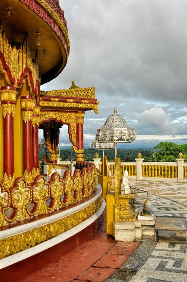 Hinduisk tempel i Bangladesh arkivbilder