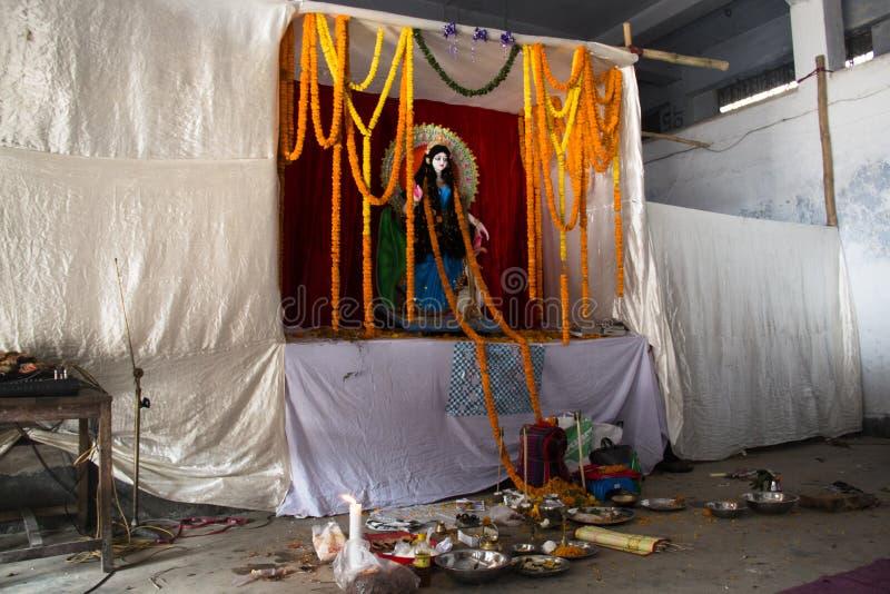 Hinduisk tempel i Chittagong, Bangladesh arkivbild
