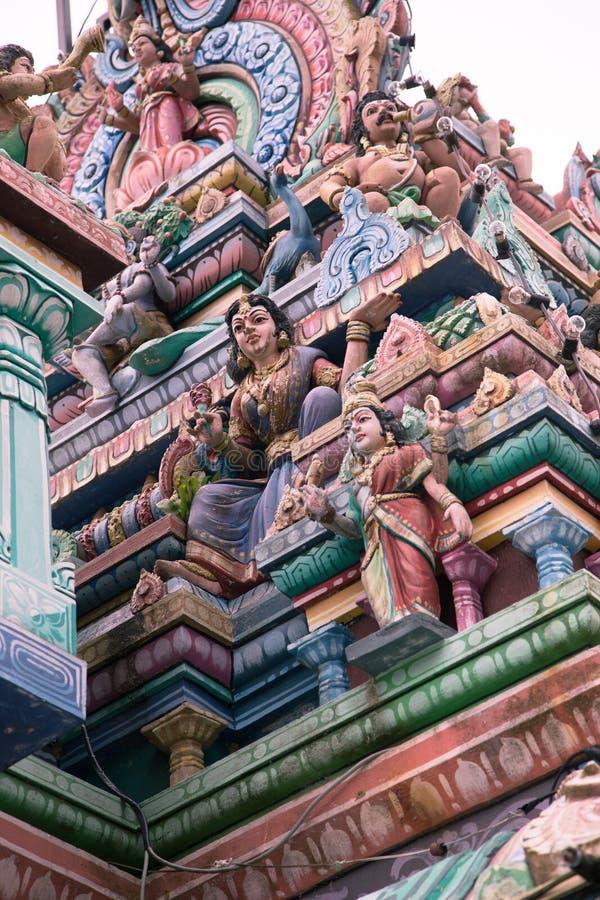 Hinduisk tempel i Penang, Malaysia arkivbild