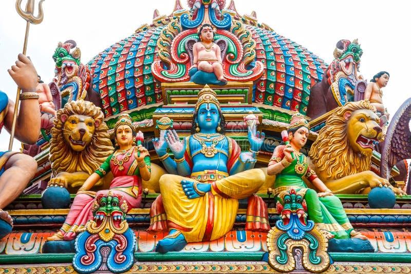 Hinduisk tempel i Singapore royaltyfria bilder