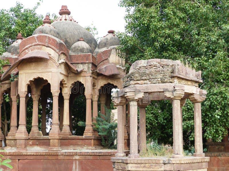 Hinduisk tempel, Khimsar arkivfoton