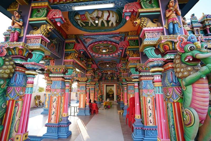 Hinduisk tempel, Port Louis, Mauritius arkivfoton