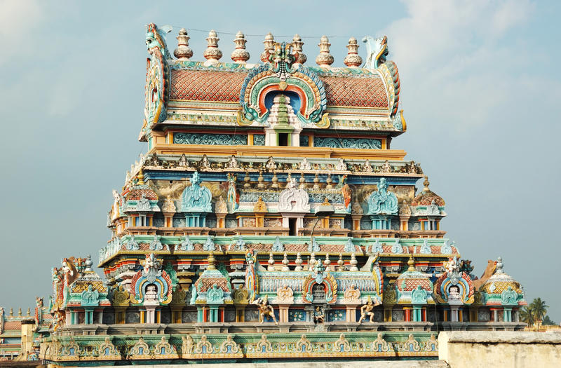 hinduisk tiruchirapalli för india srirangamtempel royaltyfri fotografi