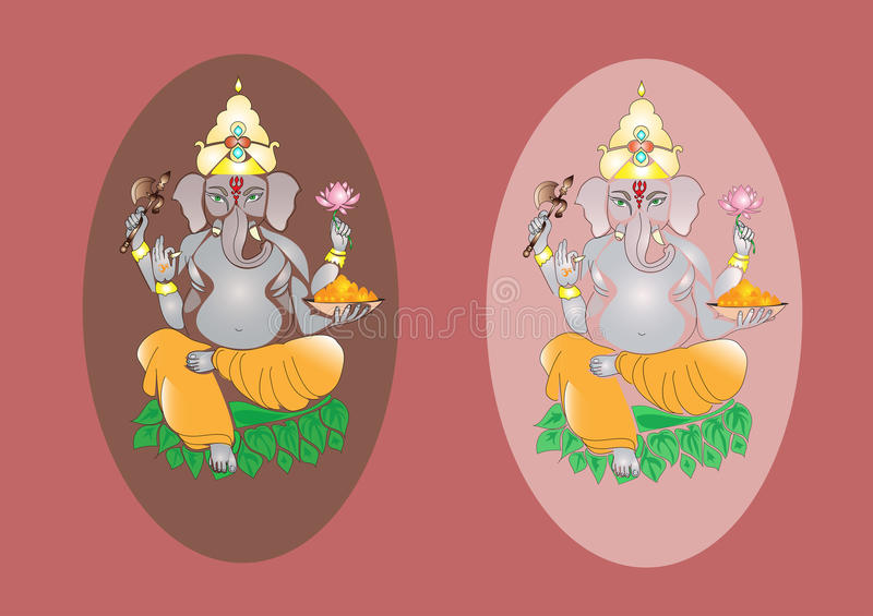 Hinduiska Lord Ganesh royaltyfri illustrationer