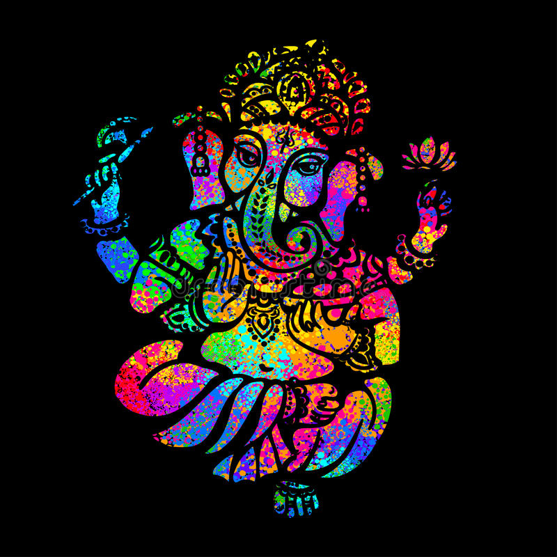 Hinduiska Lord Ganesha royaltyfri illustrationer