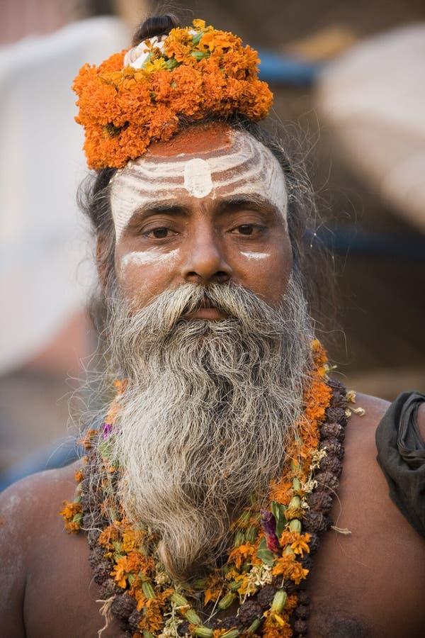 Hinduiska Sadhu - Varanasi - Indien arkivbild