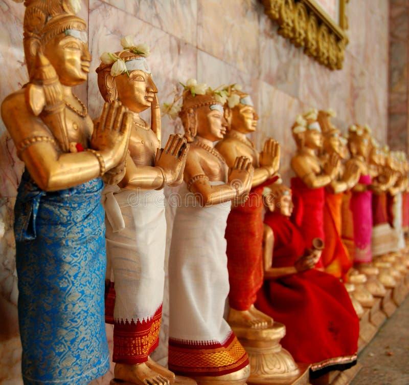 hinduiska statyer arkivfoton