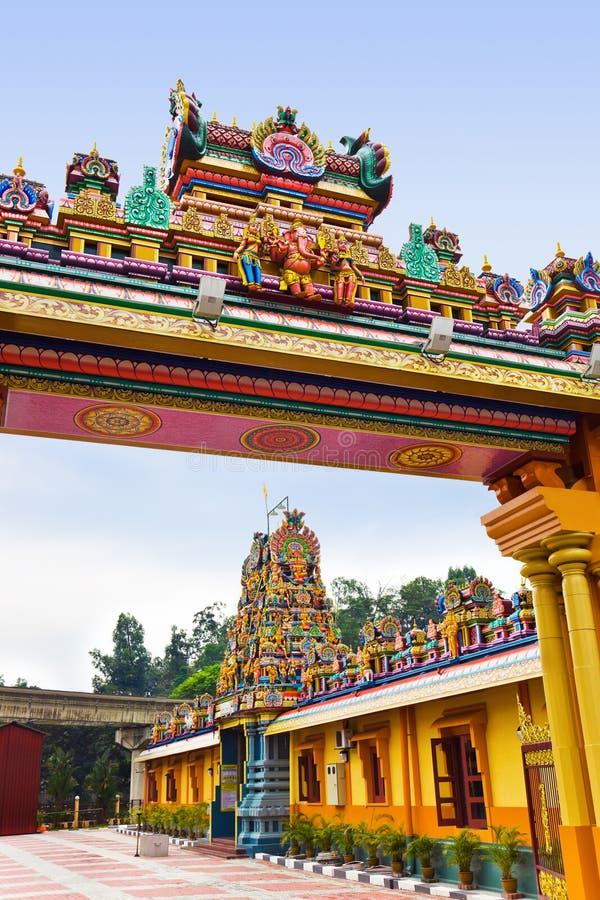 hinduiskt Kuala Lumpur malaysia tempel arkivfoton