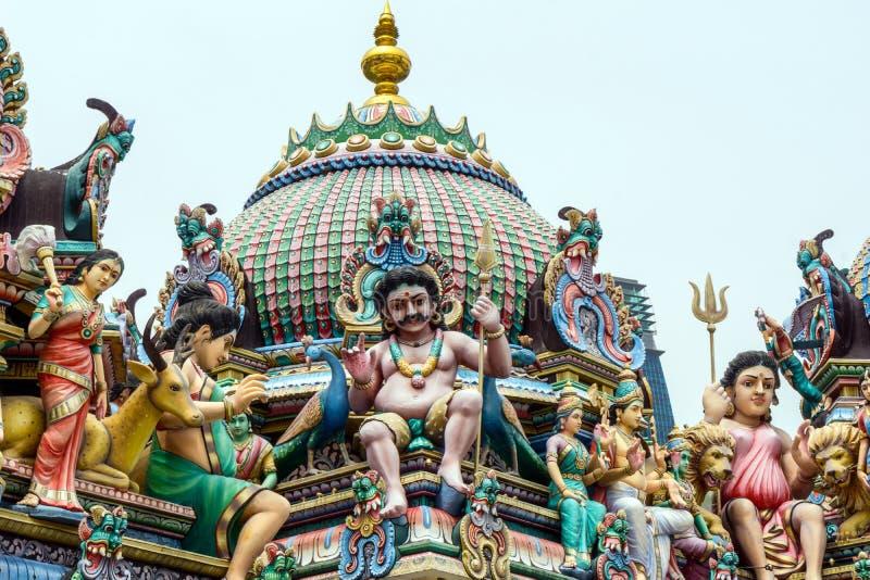 hinduiskt mariamman sritempel Singapore royaltyfria bilder