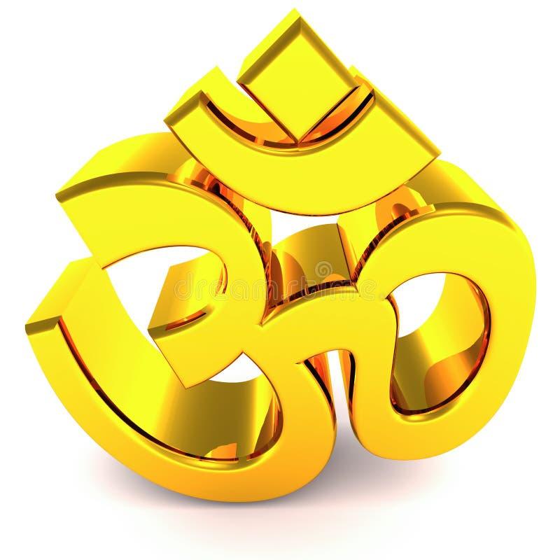 hinduiskt om-klosterbrodersymbol royaltyfri illustrationer