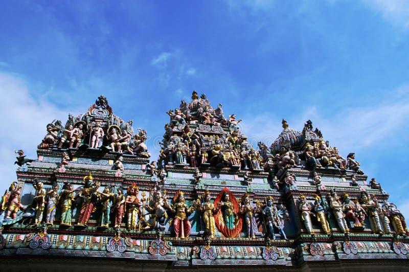 hinduiskt singapore tempel arkivbild