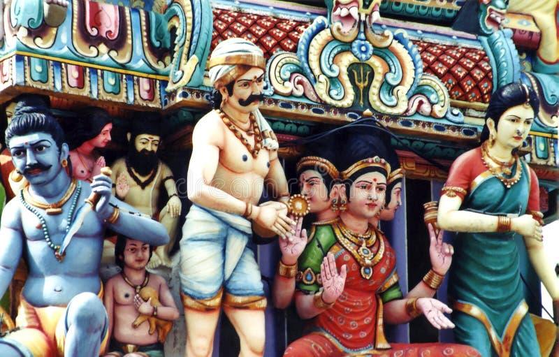 hinduiskt singapore tempel arkivbilder