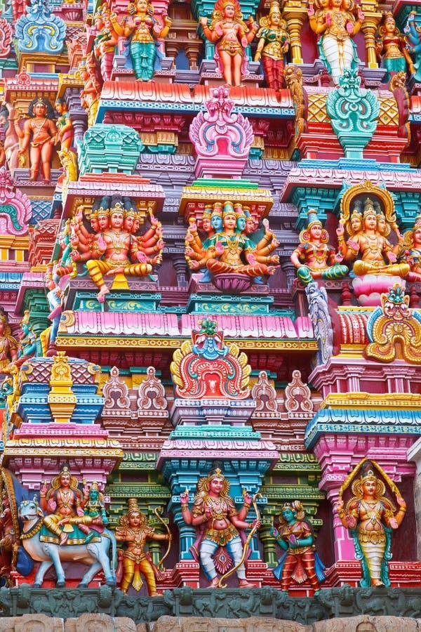 hinduiskt skulpturtempel royaltyfri bild