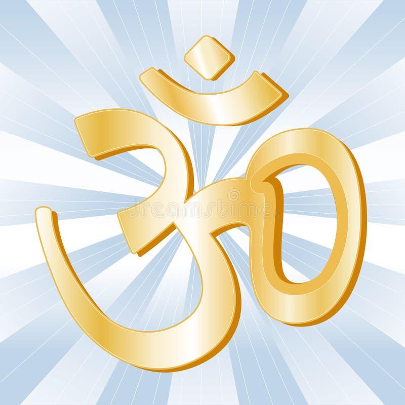 hinduiskt symbol stock illustrationer