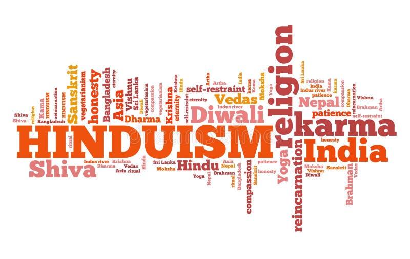 hinduism royaltyfri illustrationer