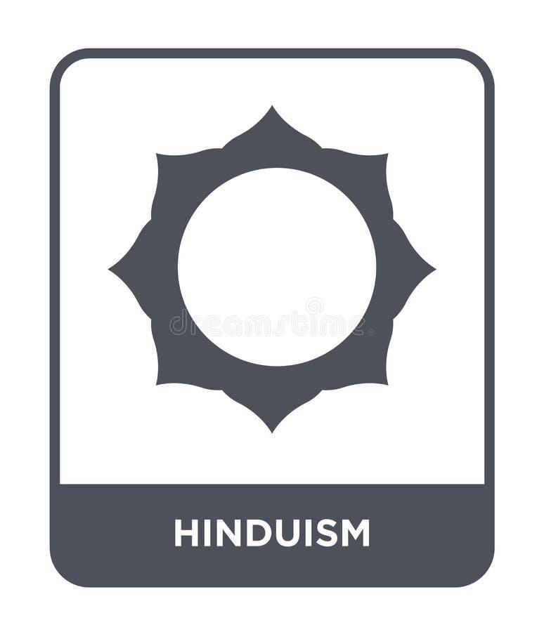 hinduism ikona w modnym projekta stylu hinduism ikona odizolowywająca na białym tle hinduism wektorowej ikony prosty i nowożytny  ilustracja wektor
