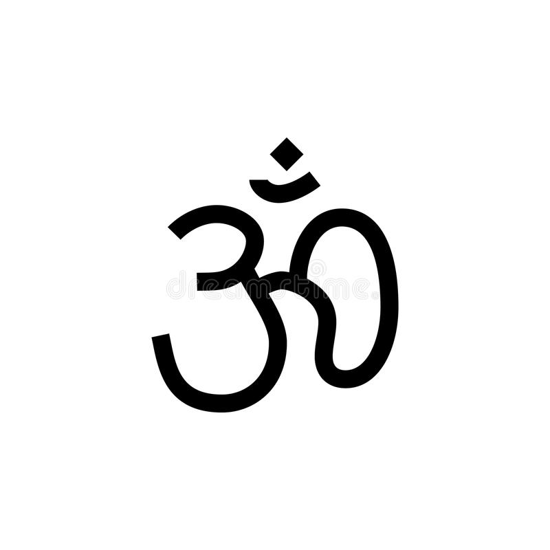 Hinduism Om sign icon. Element of religion sign icon for mobile concept and web apps. Detailed Hinduism Om icon can be used for we royalty free illustration