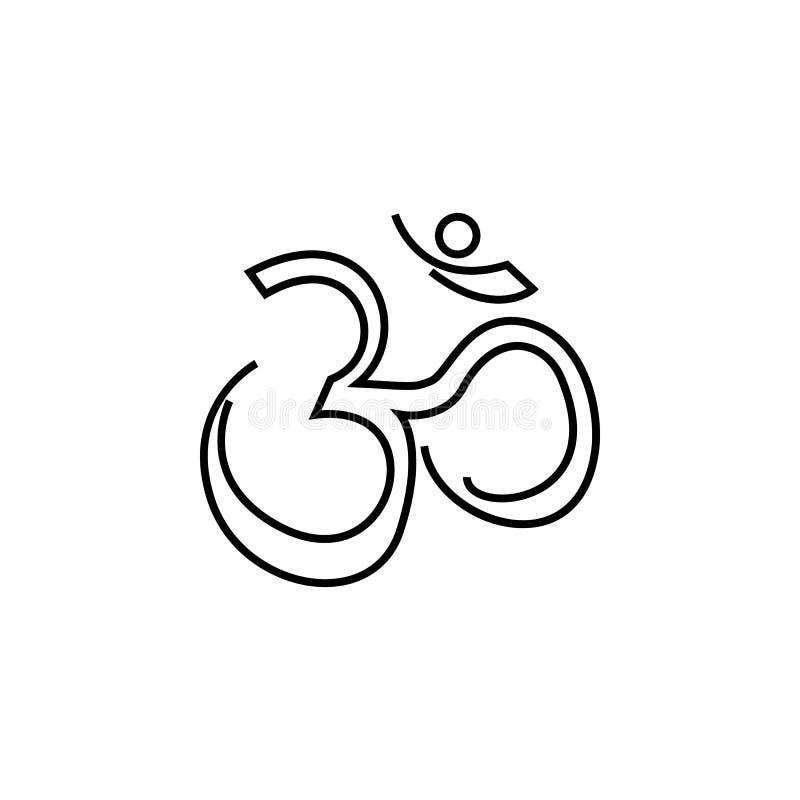 hinduism przekonania religijnego ikona na białym tle Diwali festiwalu Hinduscy elementy dla grafiki i sieci projekta na białym tl ilustracja wektor