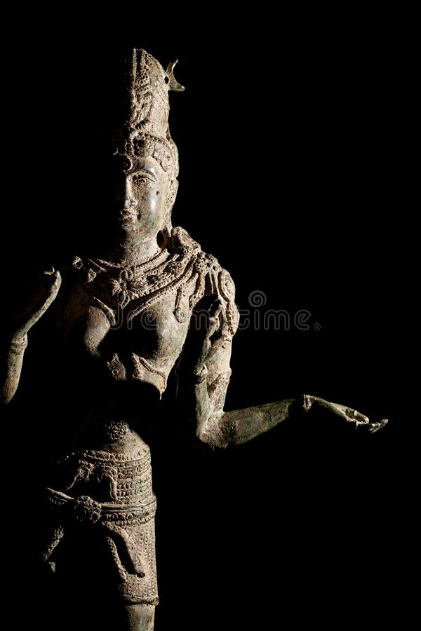 Hinduism religious diety. Traditional Hindu Goddess Lakshmi stat stock photography
