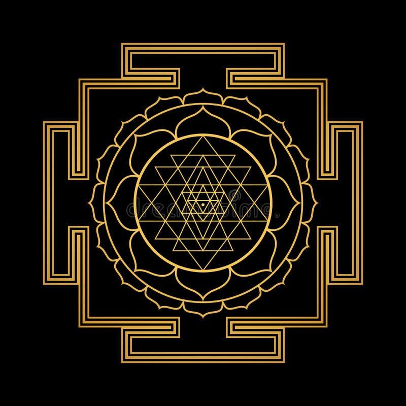 Hinduism Yantra Sacred Geometry Mandala Stock Vector
