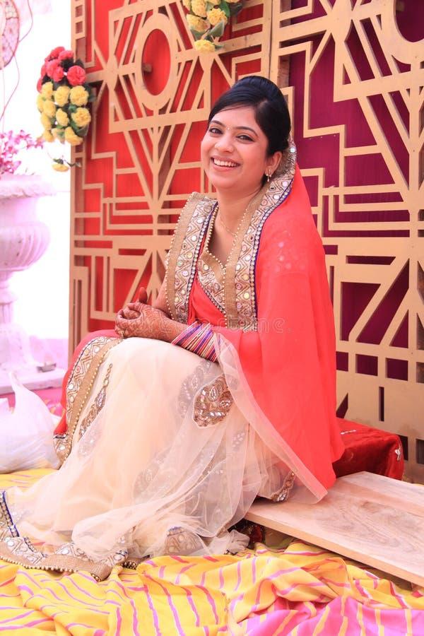Hinduistische Braut stockbilder