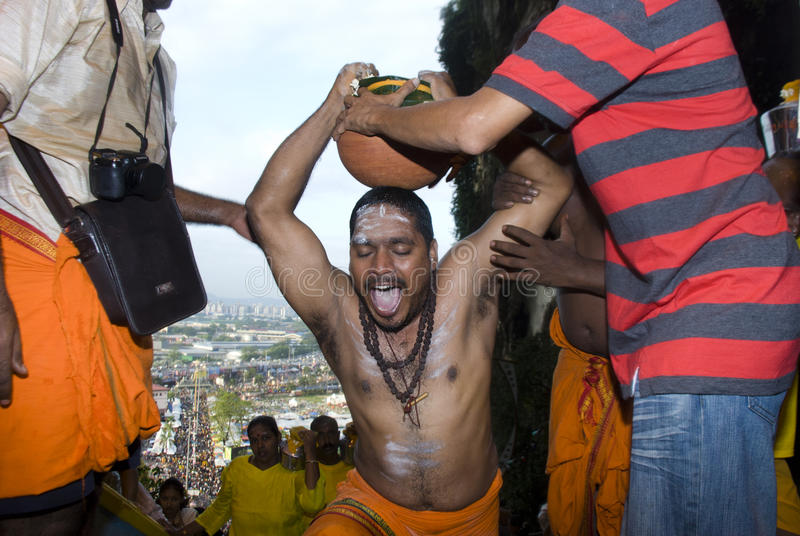 Hinduistische eifrige Anhänger lizenzfreie stockbilder