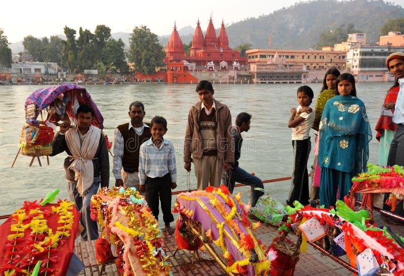 Hinduistische Familie lizenzfreie stockfotos